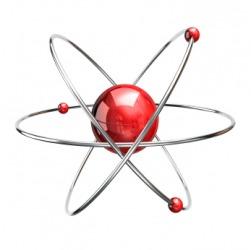 A model of an atom.