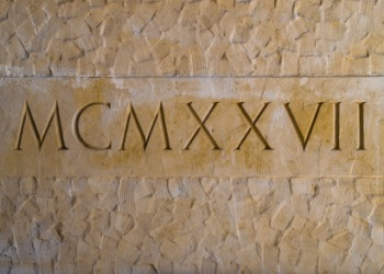 A Roman numeral is an example of something that is ideographic.