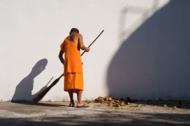 A monks lifestyle might be called austere.