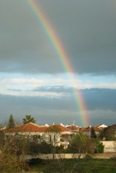 A rainbow is an example of refraction.