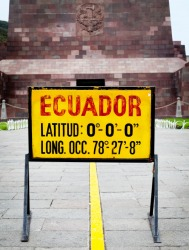 A line marks the Earth's equator.