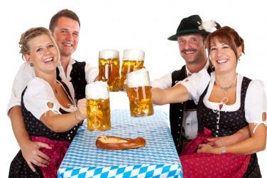 A group celebrates their German heritage.