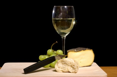 Wine is an appropriate pairing with cheese.