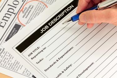 A job description tells about the job.