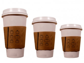 The medium cup is the one in the middle.