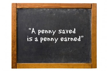 what does a penny saved is a penny earned mean
