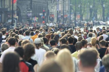 A horde of people.