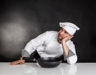 A chef waits for an idea.