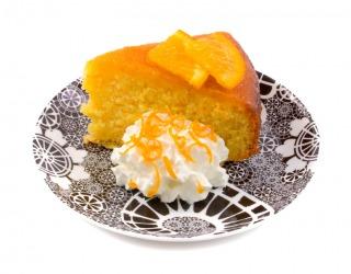 A moist orange cake.