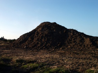 A big mound of dirt.