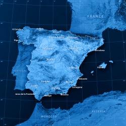 The Iberian Peninsula.