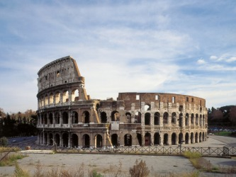 The Colosseum is an example of a ruin.