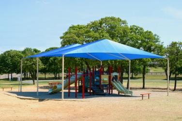 A shady playground.