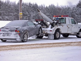A tow truck will give you a tow.