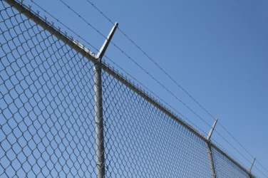 A wire fence.