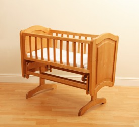 A rocking cradle.