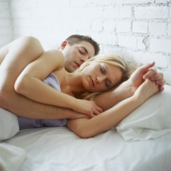 spooning style of cuddling