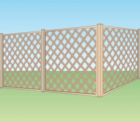 An illustration of fence panels.