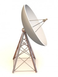 The concave form of the satellite dish is an example of a parabolic shape.