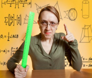 Ms. Whipple, an unpopular pedagogue, has been teaching 9th grade geometry for over 25 years.