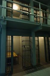 Interior of a prison.
