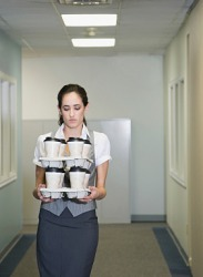 She felt like she was being treated like a peon when she was given the task of delivering coffee for the team meetings.