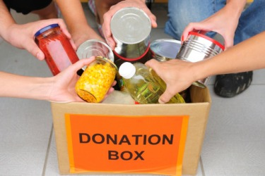 The organization's philanthropy helps to keep the food pantry stocked for families in need.