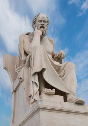 Statue of Greek philosopher Aristotle.