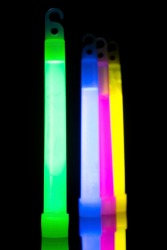 Kids carry light sticks on Halloween because the phosphorescence helps them to be seen at night.