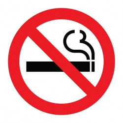 A no smoking pictograph.