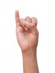 A pinkey finger