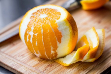 The pith is the white portion of the orange.