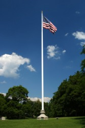 U.S.A. flag on a flag pole.