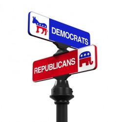 The two main political parties in the United States are Democrats and Republicans.