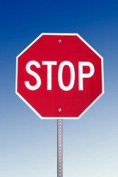 The shape of a stop sign is an example of a polygon.