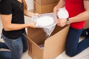 Bubble wrap used for packing fragile dishes is an example of polythene.