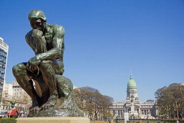 Statue of Rodin's The Thinker