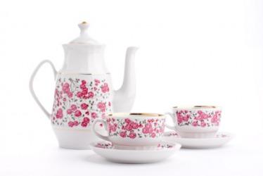 A porcelain tea set