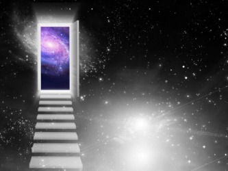 An imaginary doorway could be a portal to the other side of the universe.