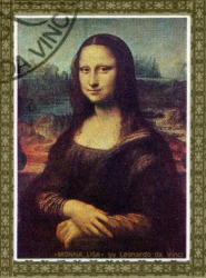 A portrait of the Mona Lisa by Leonardo da Vinci