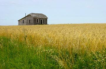 A house on the prairie.