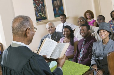 When Pastor Johnson preaches the word of the gospel, the congregation feels jubilant.