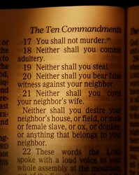Christians try to live by the precepts of the Ten Commandments