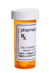 A bottle of prescription medicine