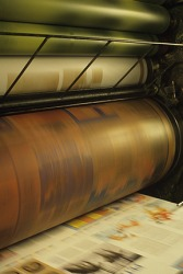 Roll paper in printing press