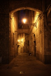 An alley in an ancient city.