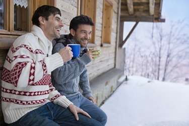 Ted and Jay primarily wear sweaters when they get away to the cabin in the winter.
