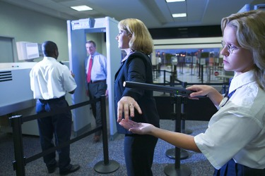 Proceeding through airport security