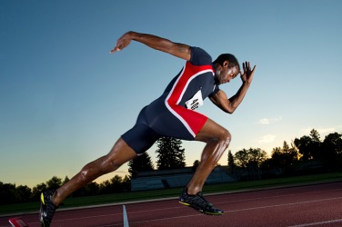 The athlete became a proficient sprinter because he practiced every day.