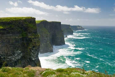 The promontory Cliffs of Moher are one of the tallest sea cliffs in Ireland.